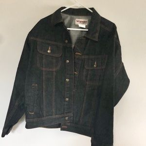 Wrangler Unisex Button Up Denim Jacket Cotton LG
